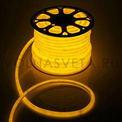 Гибкий неон D16 - круглый, светодиодный | Желтый - 25м