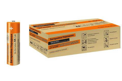 Элемент питания R6 AA Zinc Carbon 1,5V SH-4 Народный