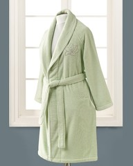LILIUM SALYAKA ЗЕЛЕНЫЙ махровый женский халат Soft Cotton (Турция)