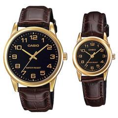 Парные часы Casio Standard: MTP-V001GL-1B и LTP-V001GL-1B