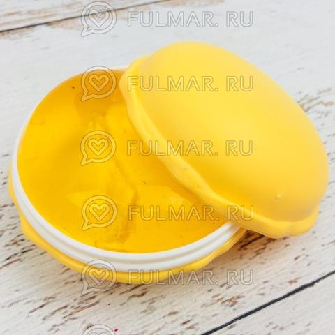 Слайм лизун антистресс макарон Macarons Жёлтый