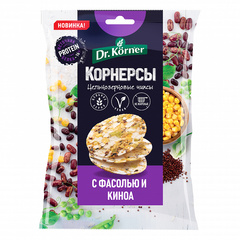 Dr. Korner Чипсы ц/з кукурузно-рисовые с горошком, фасолью и киноа 50гр