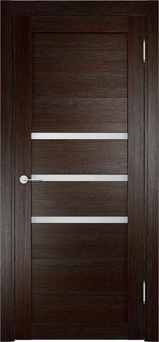 Дверь Eldorf Мюнхен 01, стекло Сатинато, цвет тёмный дуб, остекленная