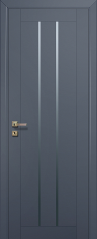 Дверь Profil Doors № 49 U, стекло графит, цвет антрацит, остекленная