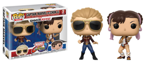 Funko POP! Vinyl 2-Pack: Capcom vs. Marvel: Captain Marvel vs Chun-Li || Капитан Марвел против Чун-Ли