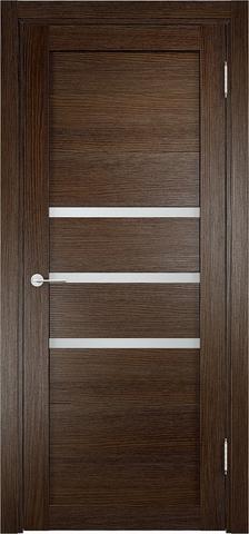 Дверь Eldorf Мюнхен 01, стекло Сатинато, цвет дуб табак, остекленная
