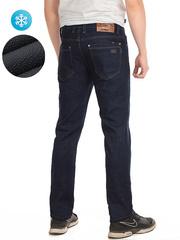 7708 джинсы мужские утепленные, темно-синие
