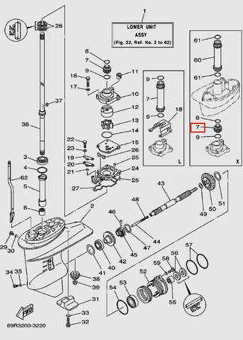 Втулка для лодочного мотора Т30 Sea-PRO (17-7)