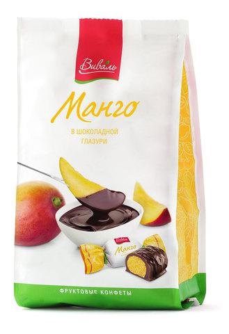 ВИВАЛЬ Манго в шоколадной глазури 180г