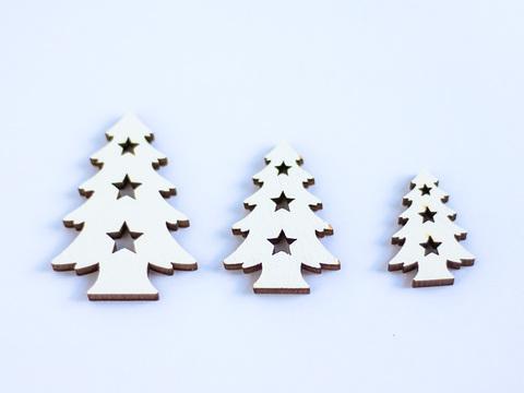 Декор дерев'яний Let's make набір ялинки білі 275209178