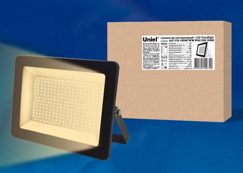 ULF-F18-150W/WW IP65 200-240В BLACK Прожектор светодиодный. Теплый белый свет (3000K). Корпус черный. TM Uniel.