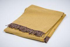 Плед шерстяной 130x200 Mantas Ezcaray Australia желтый