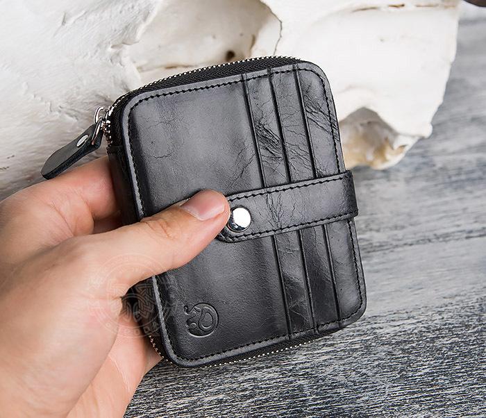 WL289-1 Оригинальный кошелек на молнии для карт, купюр и монет фото 08
