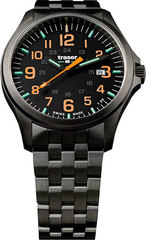 Наручные часы Traser P67 OFFICER PRO Gunmetal Black/Orange 107870 (сталь)