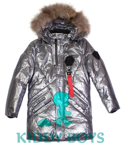 Удлиненная куртка для мальчика Silver Fashion 817-1