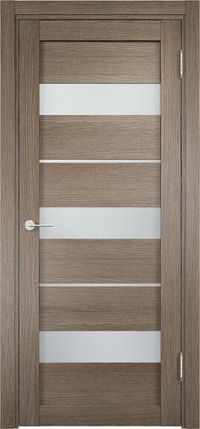 Дверь Eldorf Мюнхен 02, стекло Сатинато, цвет дымчатый дуб, остекленная
