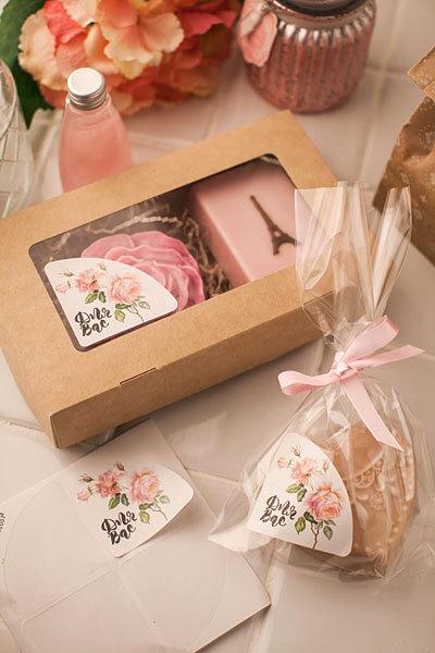 Уголок на коробку для мыла Винтажная роза