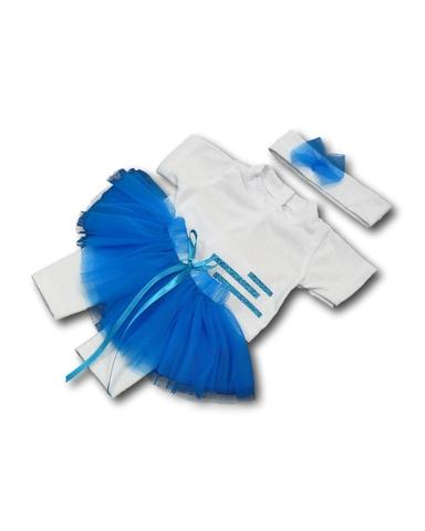 Костюм с юбкой - Голубой. Одежда для кукол, пупсов и мягких игрушек.