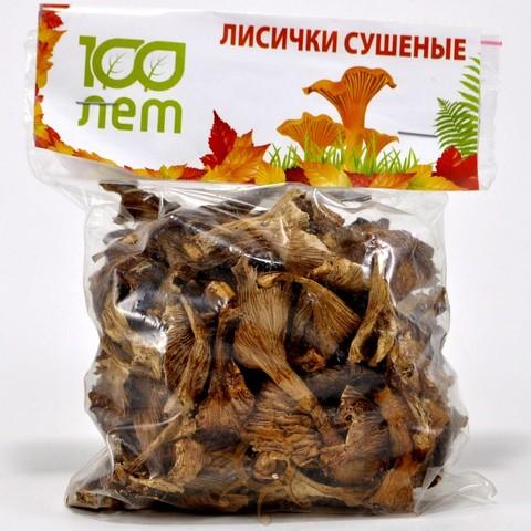 Грибы лисички сушеные 100 лет, 50г