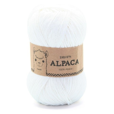 Пряжа Drops Alpaca 1101 белый