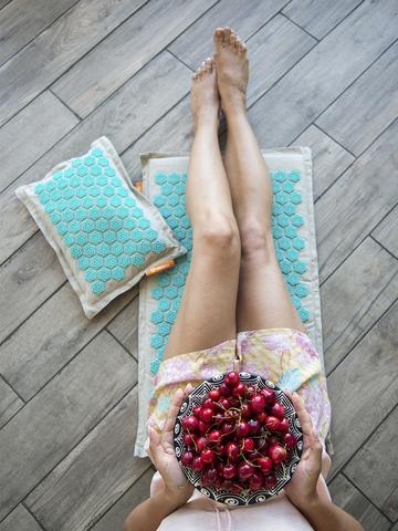 Набор массажный акупунктурный коврик + подушка Comfox Premium (бирюза)