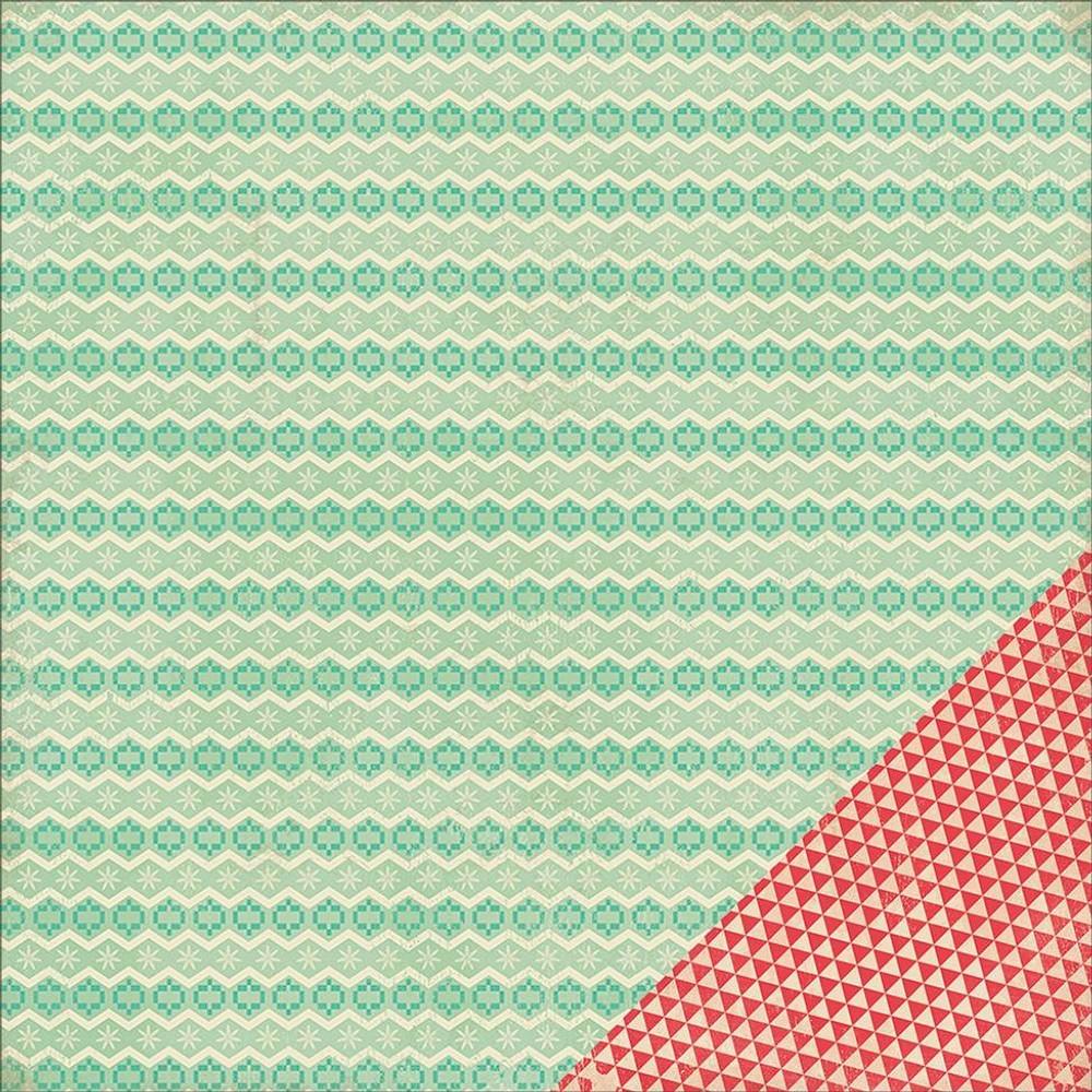 Лист двусторонней бумаги 30х30см - American Crafts - Crate Paper - Bundled Up Collection - Christmas