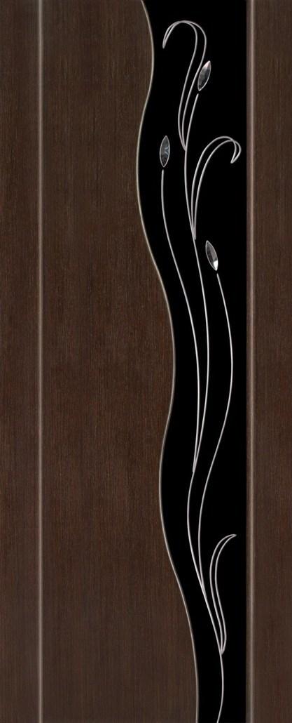 Дверь межкомнатная,Россич,Ариэль , Цвета: Венге, Беленый дуб