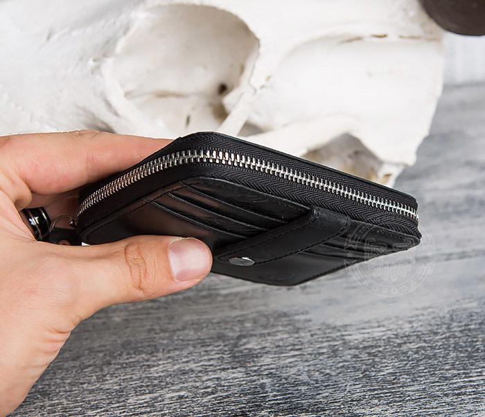 WL289-1 Оригинальный кошелек на молнии для карт, купюр и монет фото 09