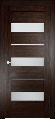 Дверь Eldorf Мюнхен 02, стекло Сатинато, цвет тёмный дуб, остекленная