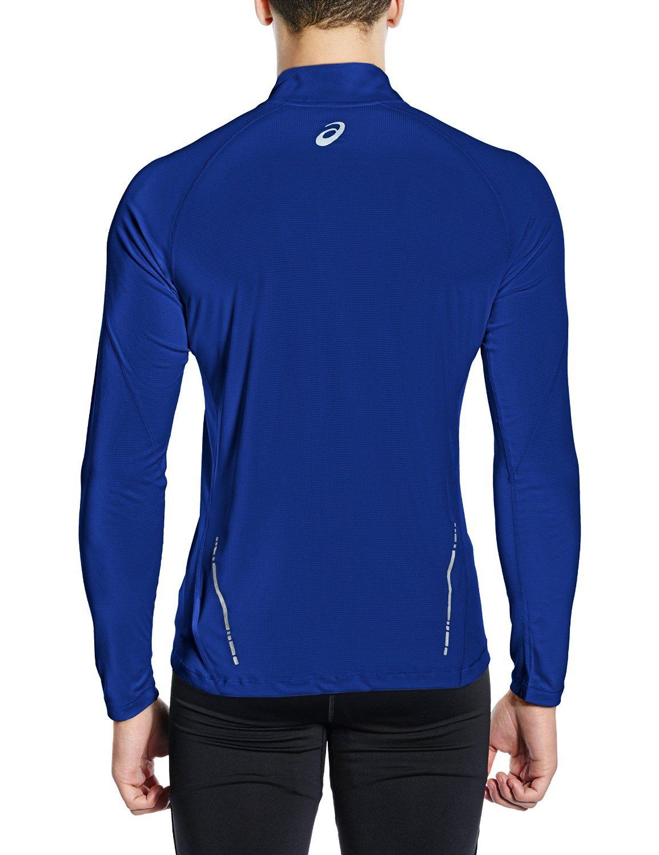 Мужская рубашка для бега  асикс Ls 1/2 Zip Top (110410 8107)