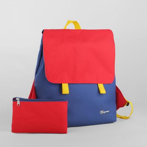 Рюкзак детский синий/красный