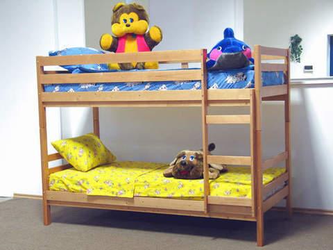 Двухъярусная кровать Массив 90х190 деревянная ольха