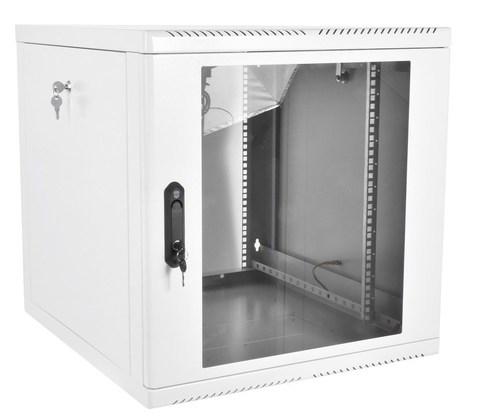 Шкаф ЦМО ШРН-М-9.500 телекоммуникационный настенный разборный 9U (600 × 520), съемные стенки, дверь стекло