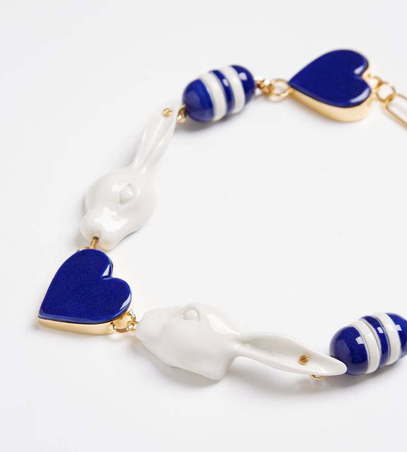 Колье из фарфора Sailor Blue от ANDRES GALLARDO