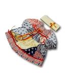 Платье печворк - Красный / бежевый. Одежда для кукол, пупсов и мягких игрушек.