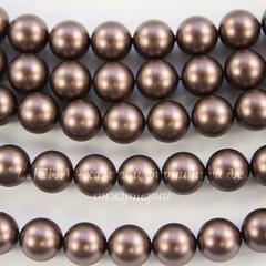 5810 Хрустальный жемчуг Сваровски Crystal Velvet Brown круглый 12 мм