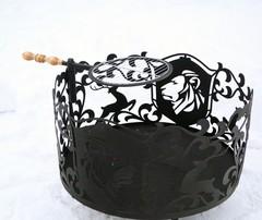 Съемная круглая решетка для костровых чаш