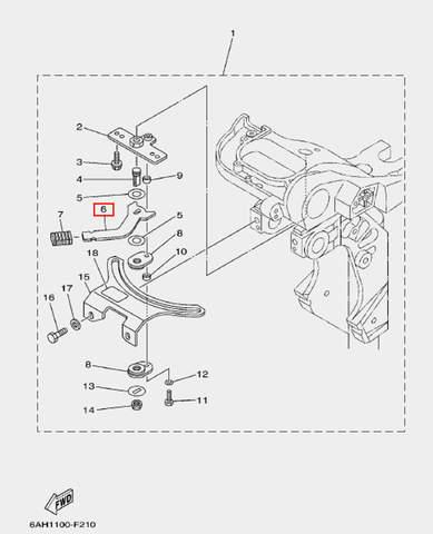Рычаг блокировки для лодочного мотора F20 Sea-PRO (17-6)