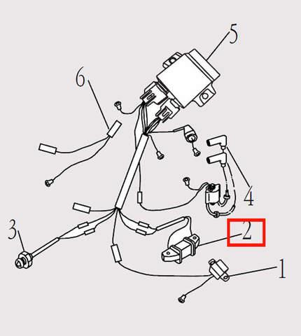 Катушка зажигания генератора для лодочного мотора F9.8 Sea-PRO (14-2)