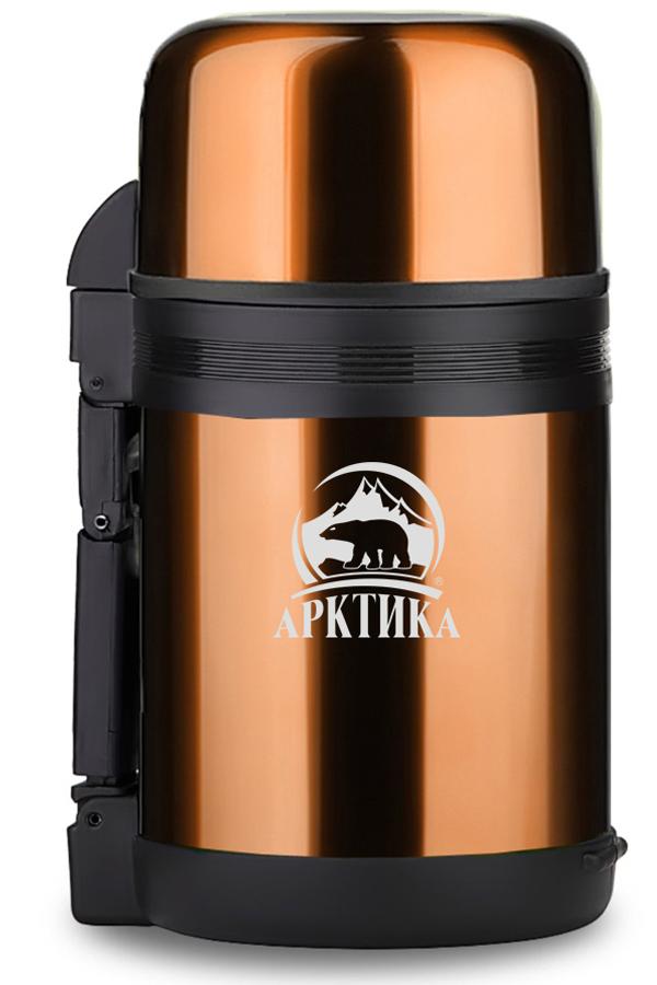 Термос универсальный (для еды и напитков) Арктика (1,5 л.) с широким горлом, кофейный