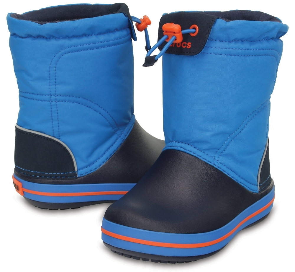 Детские сапожки Crocs Kids' Crocband LodgePoint Boot Ocean/Navy фото 203509