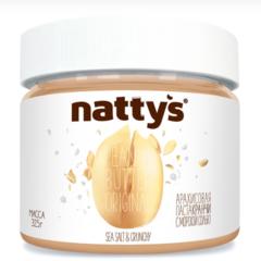 Паста хрустящая арахисовая  с морской солью БЕЗ МЕДА NATTY'S 325г