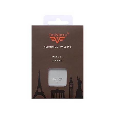 Визитница c защитой Tru Virtu PEARL, цвет серебристый , 104*67*17 мм