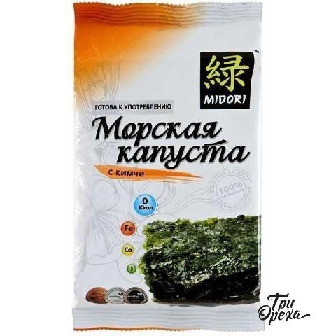 Морская капуста нори Midori с кимчи, 5 гр