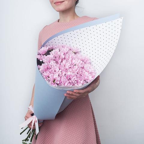 Хризантемы кустовые нежно-розовые Bacardi Pearl от 3шт