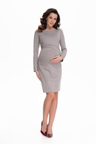 Платье для беременных 07637 серый