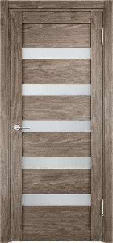 Дверь Eldorf Мюнхен 03, стекло Сатинато, цвет дымчатый дуб, остекленная