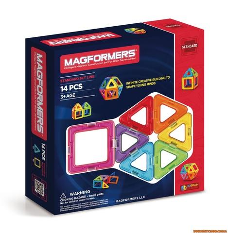 Magformers 14 элементов. Базовый набор Магформерс