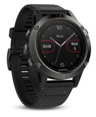 Беговые часы Garmin Fenix 5 с черным ремешком
