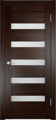 Дверь Eldorf Мюнхен 03, стекло Сатинато, цвет тёмный дуб, остекленная
